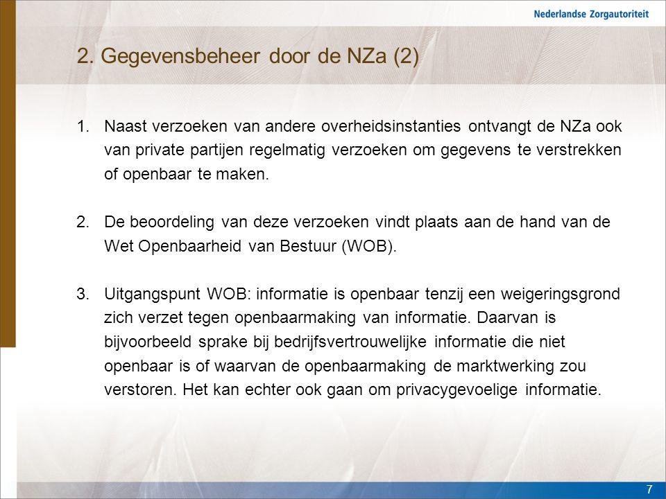 2. Gegevensbeheer door de NZa (2)