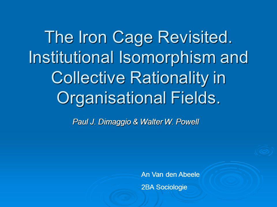 Paul J. Dimaggio & Walter W. Powell