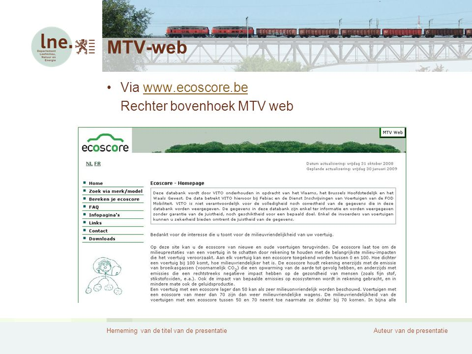 MTV-web Via www.ecoscore.be Rechter bovenhoek MTV web