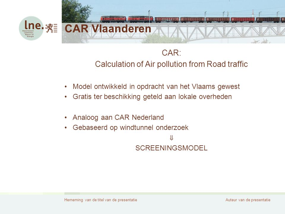 Calculation of Air pollution from Road traffic