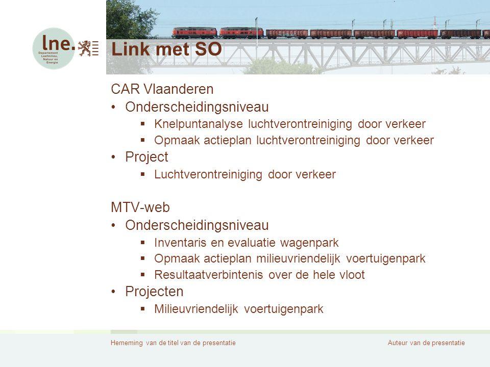 Link met SO CAR Vlaanderen Onderscheidingsniveau Project MTV-web