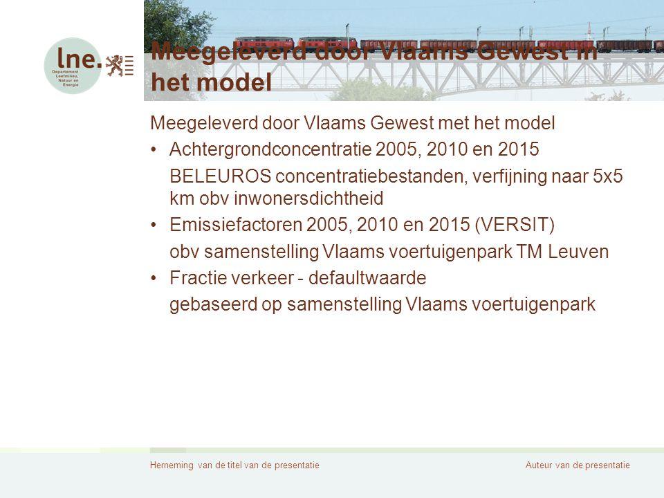 Meegeleverd door Vlaams Gewest in het model