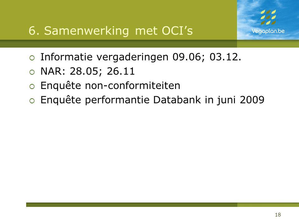 6. Samenwerking met OCI's