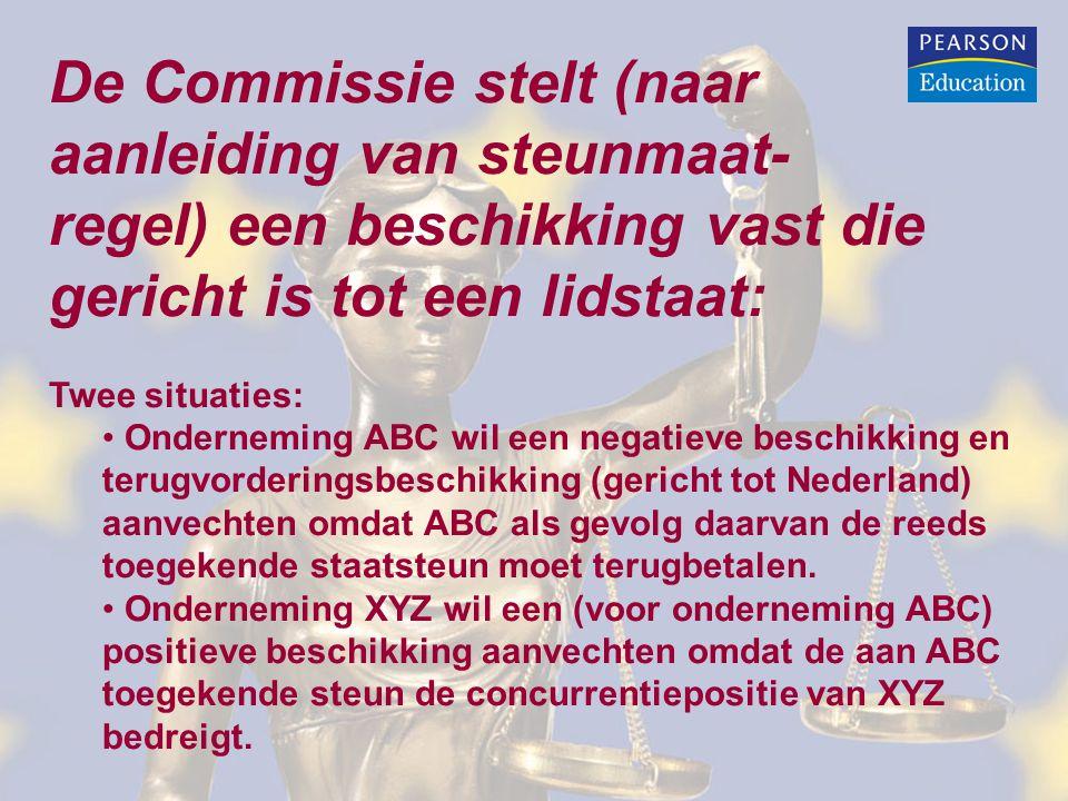 De Commissie stelt (naar aanleiding van steunmaat-
