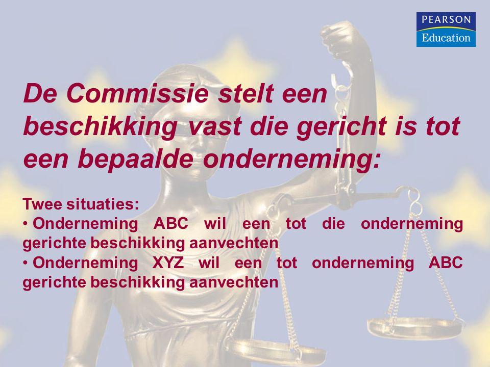De Commissie stelt een beschikking vast die gericht is tot een bepaalde onderneming: