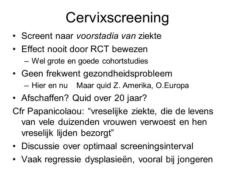 Cervixscreening Screent naar voorstadia van ziekte