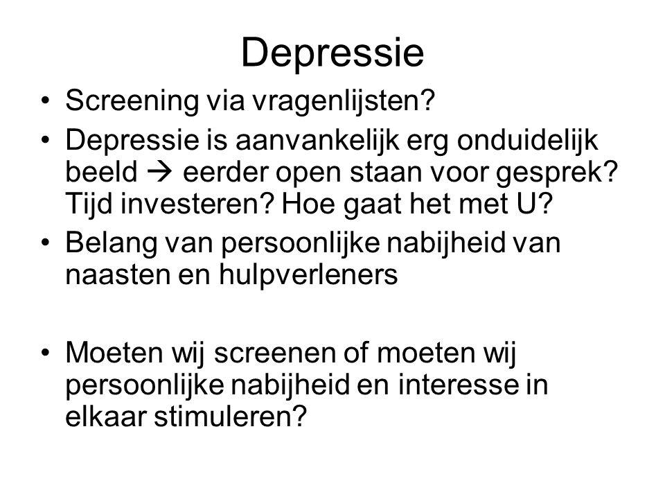 Depressie Screening via vragenlijsten