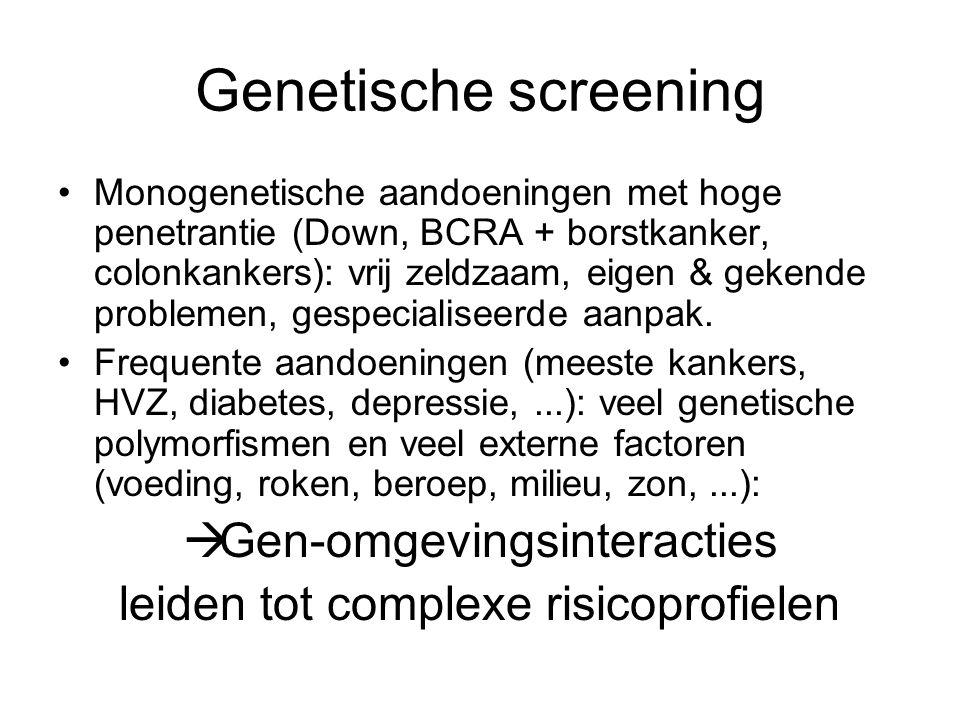Genetische screening Gen-omgevingsinteracties