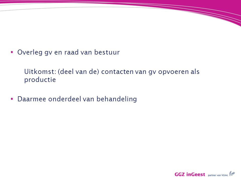 Overleg gv en raad van bestuur