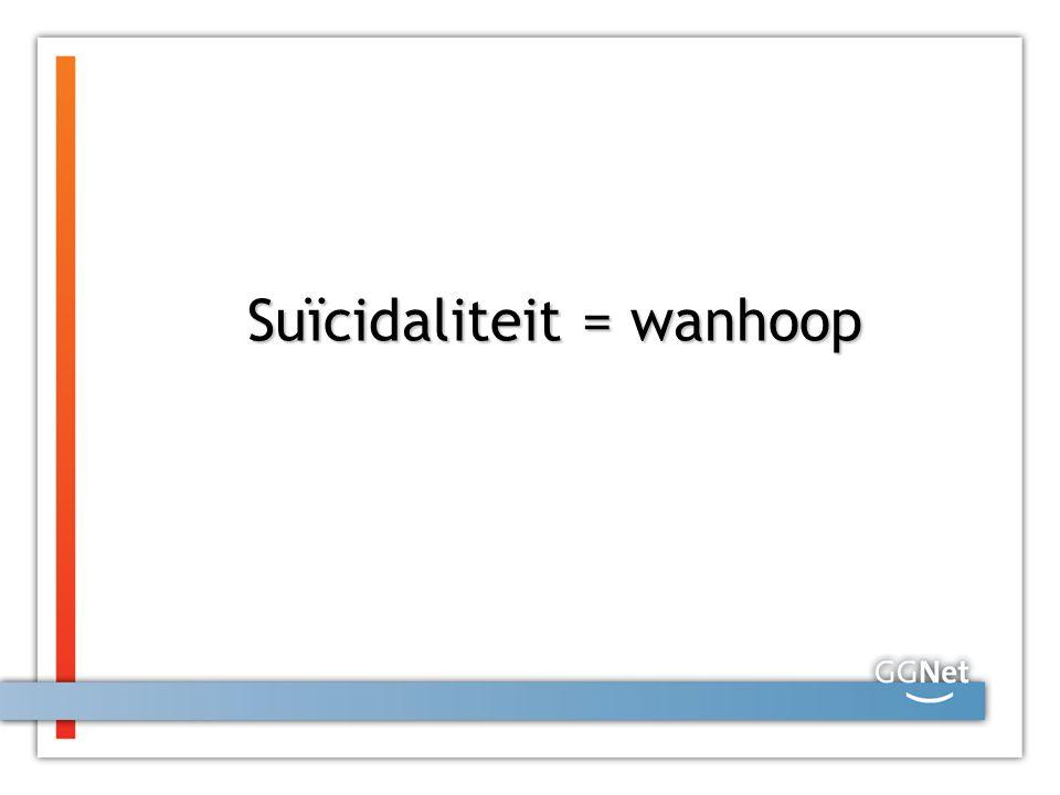 Suïcidaliteit = wanhoop