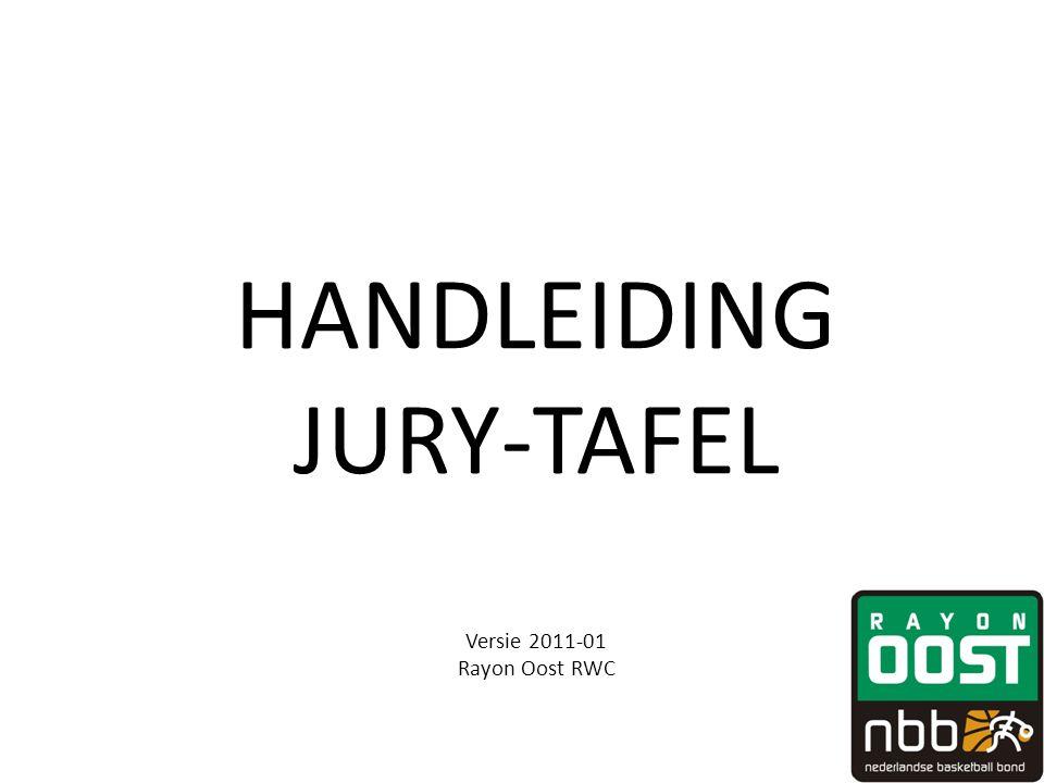 HANDLEIDING JURY-TAFEL Versie 2011-01 Rayon Oost RWC