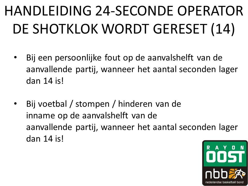 HANDLEIDING 24-SECONDE OPERATOR DE SHOTKLOK WORDT GERESET (14)