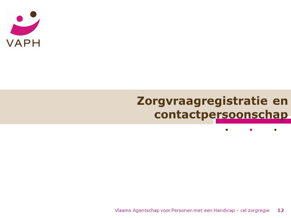 Zorgvraagregistratie en contactpersoonschap