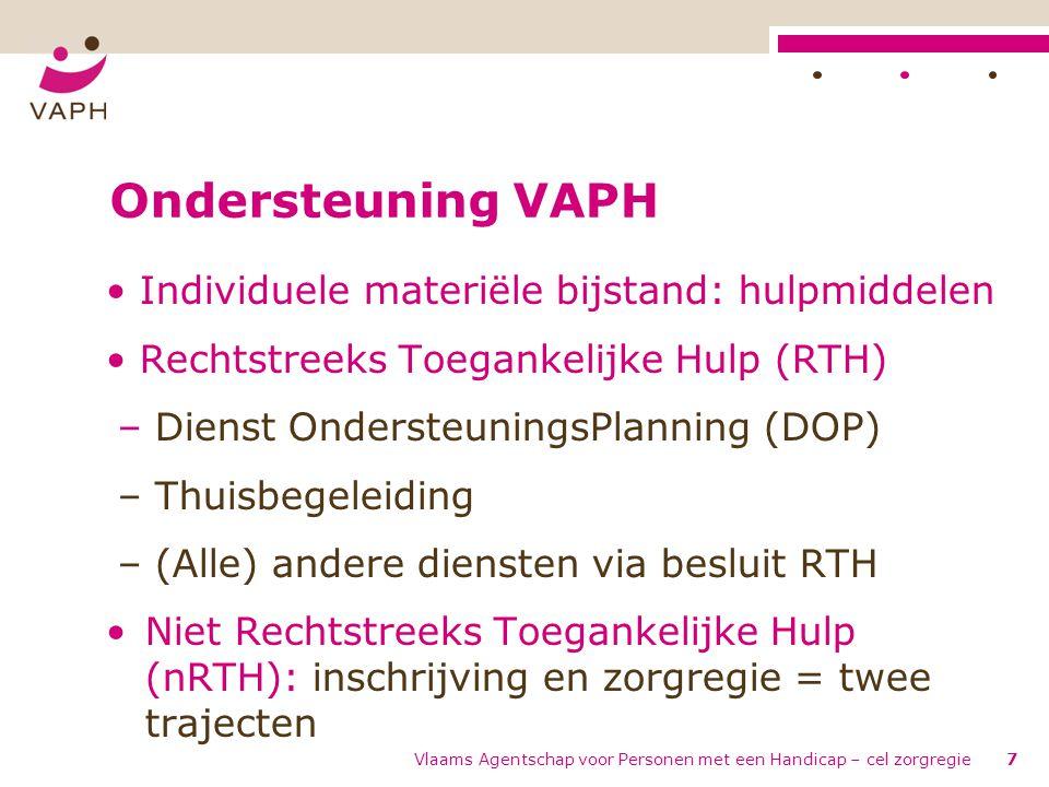 Ondersteuning VAPH Individuele materiële bijstand: hulpmiddelen