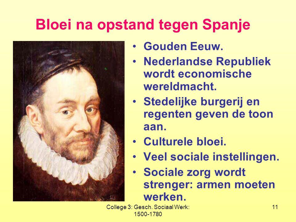 Bloei na opstand tegen Spanje