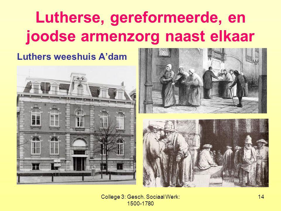 Lutherse, gereformeerde, en joodse armenzorg naast elkaar