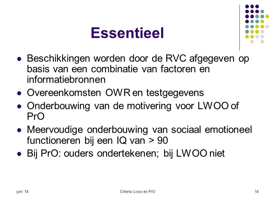 Essentieel Beschikkingen worden door de RVC afgegeven op basis van een combinatie van factoren en informatiebronnen.