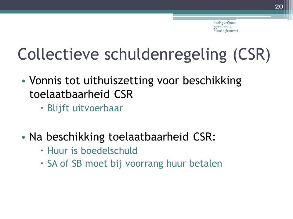 Collectieve schuldenregeling (CSR)