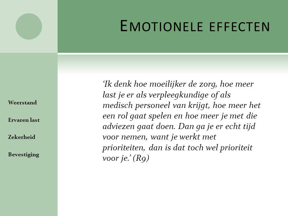 Emotionele effecten