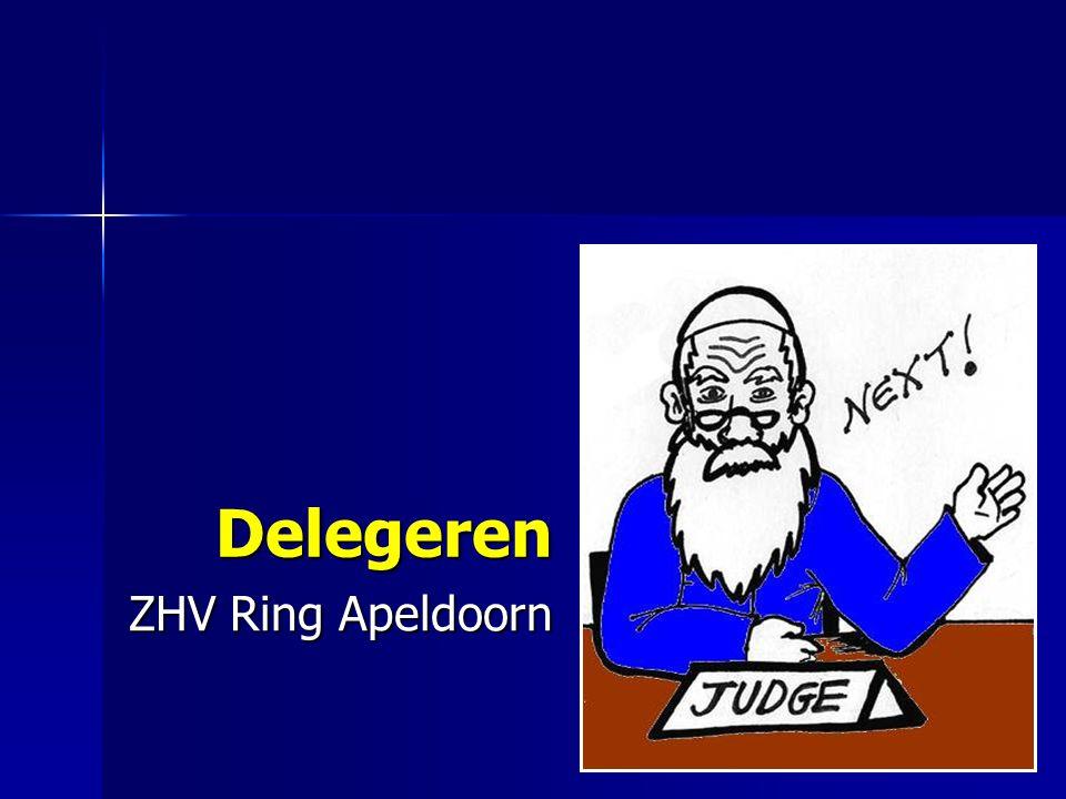 Delegeren ZHV Ring Apeldoorn