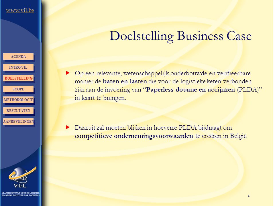 Doelstelling Business Case