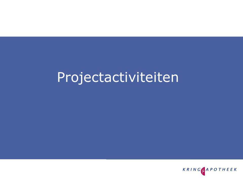 Projectactiviteiten