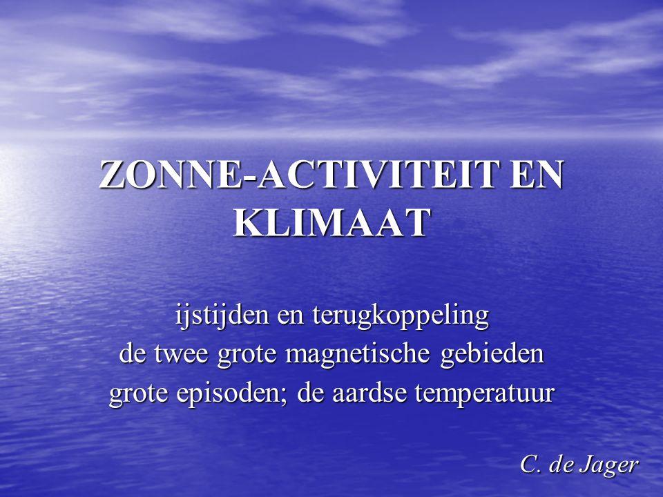 ZONNE-ACTIVITEIT EN KLIMAAT