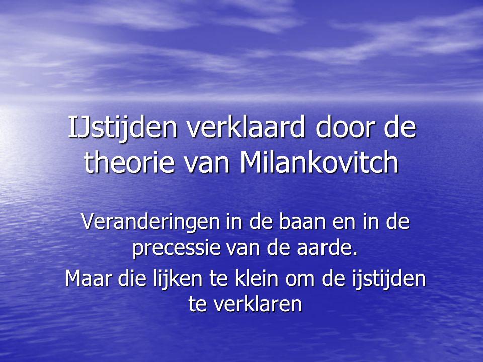 IJstijden verklaard door de theorie van Milankovitch