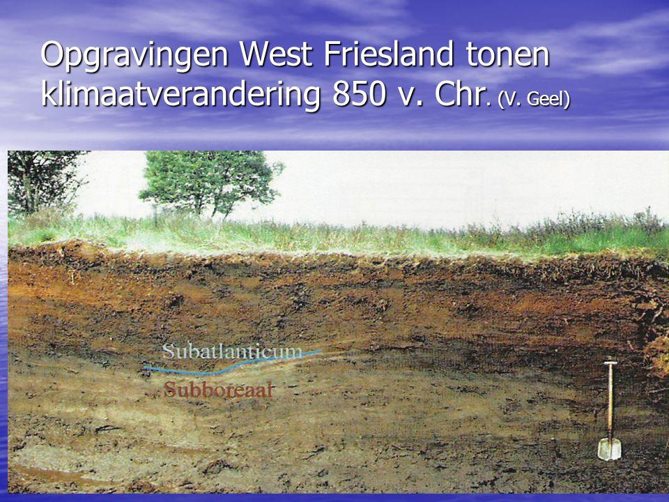 Opgravingen West Friesland tonen klimaatverandering 850 v. Chr. (V