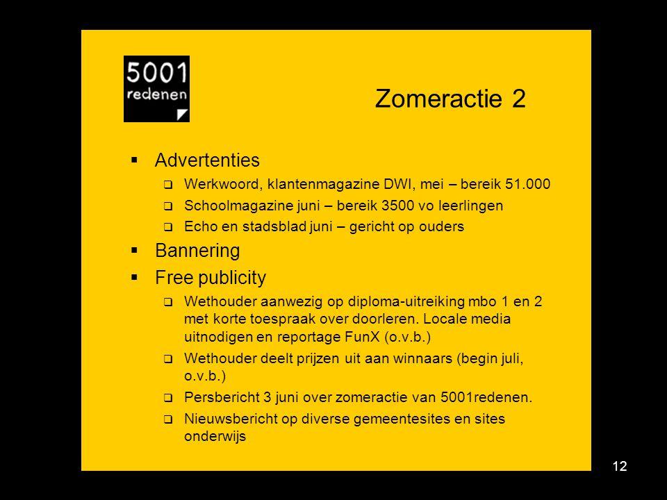 Campagne 5001redenen - zomeractie 2010