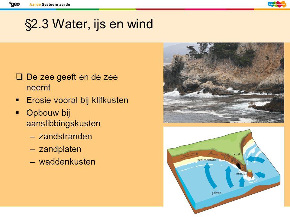 §2.3 Water, ijs en wind De zee geeft en de zee neemt