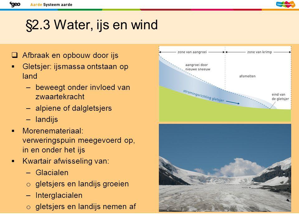 §2.3 Water, ijs en wind Afbraak en opbouw door ijs