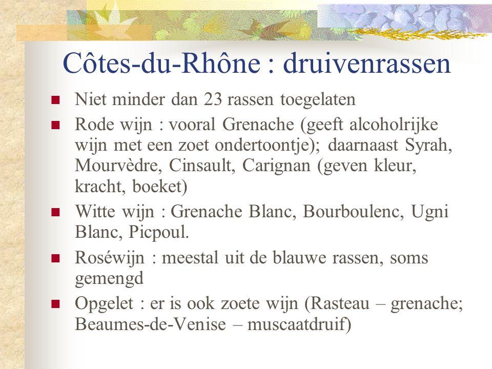 Côtes-du-Rhône : druivenrassen