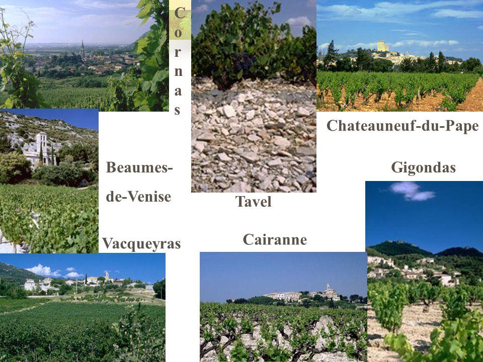 Cornas Chateauneuf-du-Pape Beaumes- de-Venise Gigondas Tavel Cairanne Vacqueyras