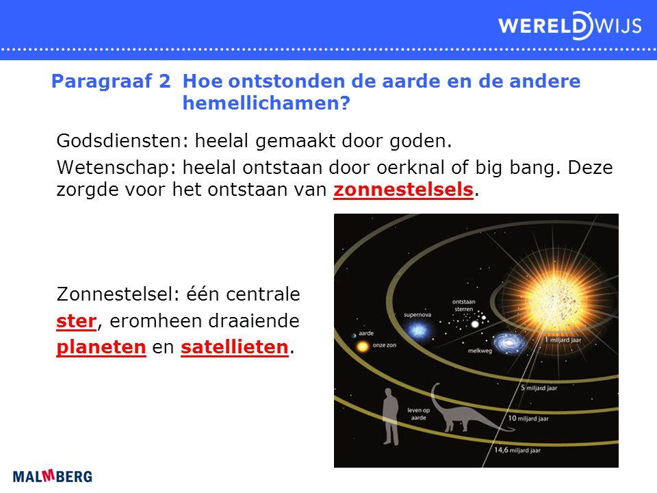 Paragraaf 2 Hoe ontstonden de aarde en de andere hemellichamen