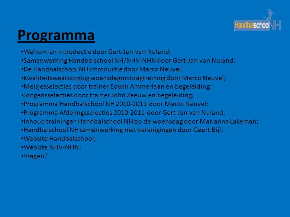 Programma Welkom en introductie door Gert-Jan van Nuland;