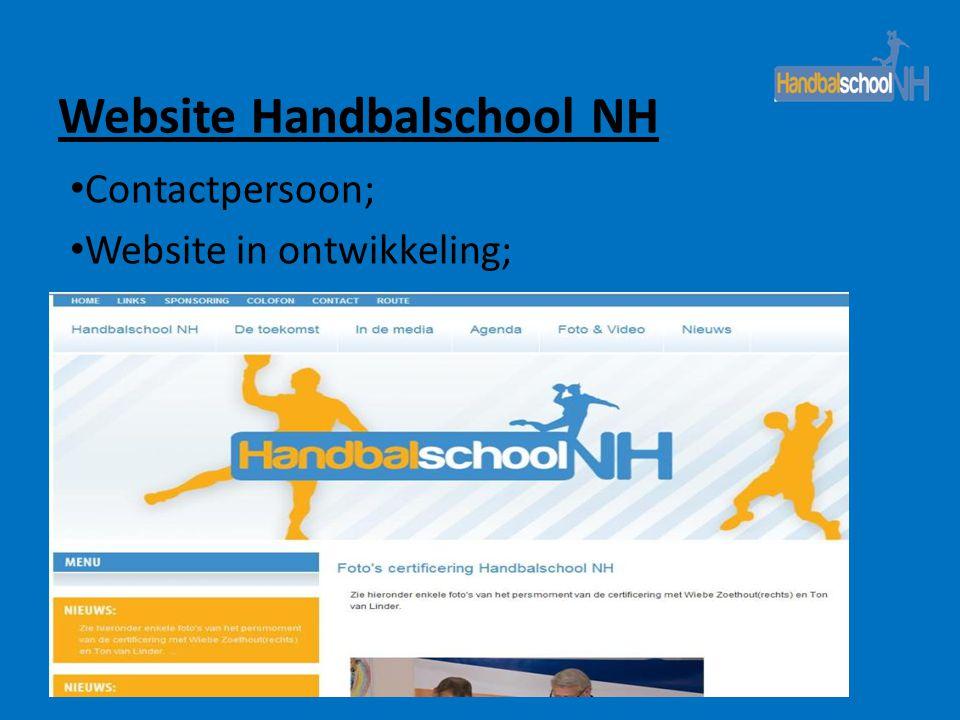 Contactpersoon; Website in ontwikkeling;
