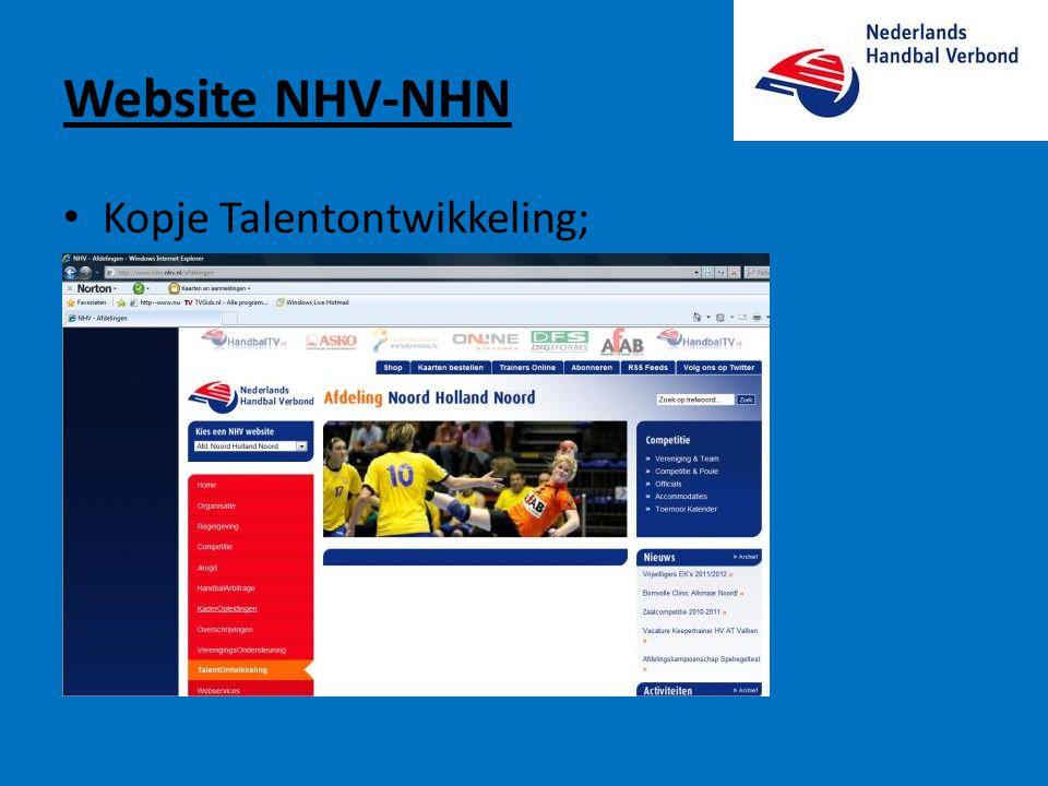 Website NHV-NHN Kopje Talentontwikkeling;