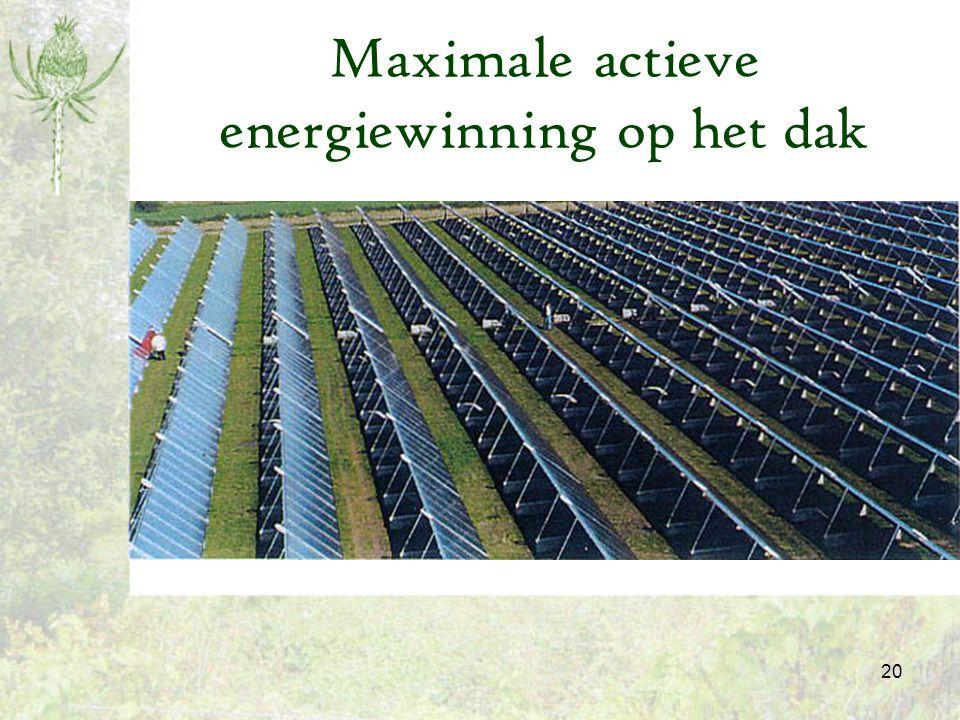 Maximale actieve energiewinning op het dak