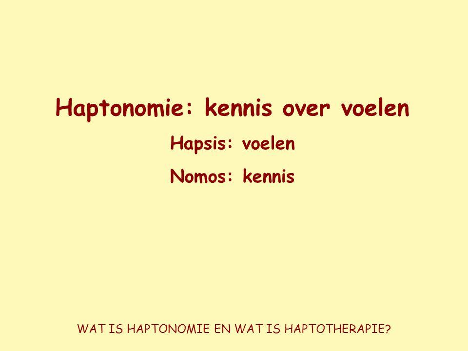 Haptonomie: kennis over voelen
