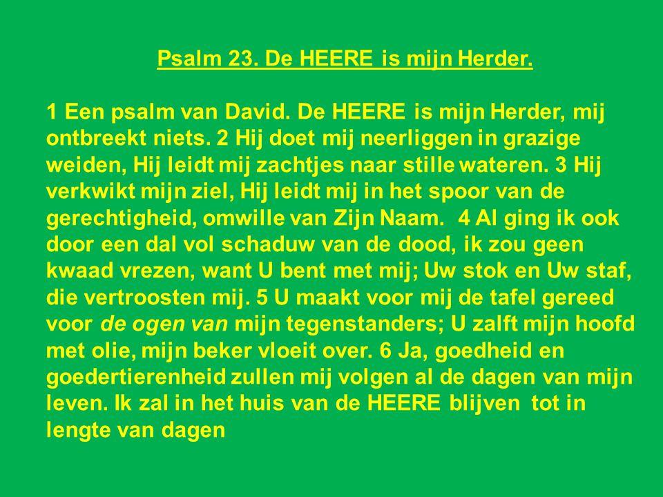 Psalm 23. De HEERE is mijn Herder.
