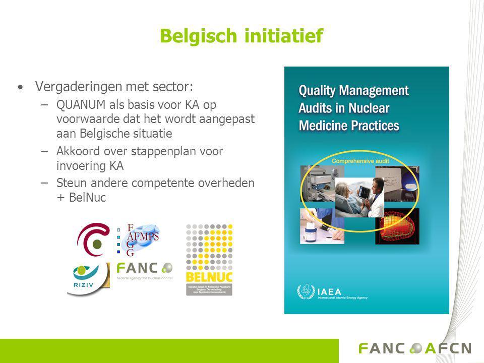 Belgisch initiatief Vergaderingen met sector: