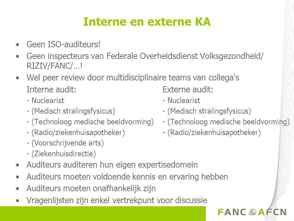 Interne en externe KA Geen ISO-auditeurs!