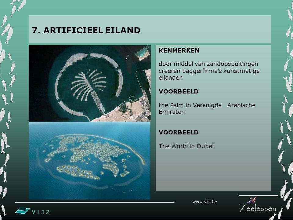 7. ARTIFICIEEL EILAND KENMERKEN