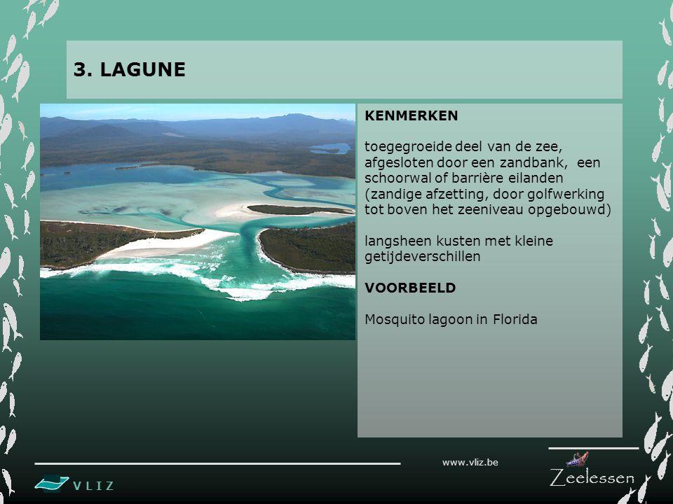3. LAGUNE KENMERKEN toegegroeide deel van de zee,