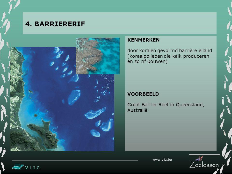 4. BARRIERERIF KENMERKEN door koralen gevormd barrière eiland