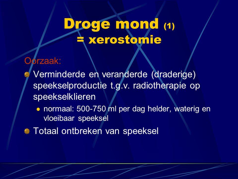 Droge mond (1) = xerostomie