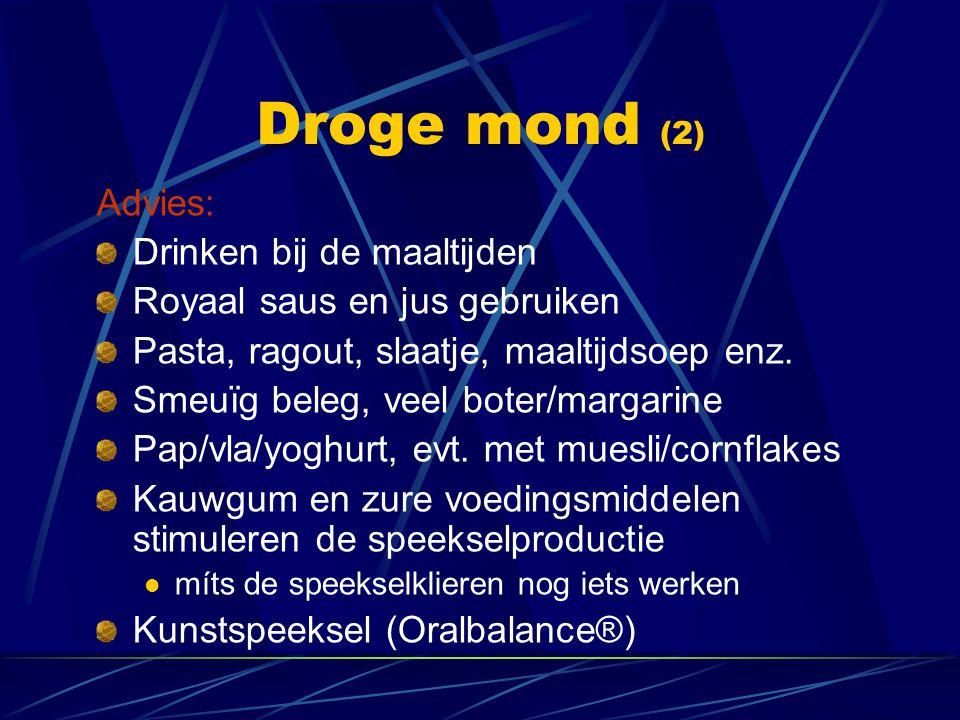 Droge mond (2) Advies: Drinken bij de maaltijden