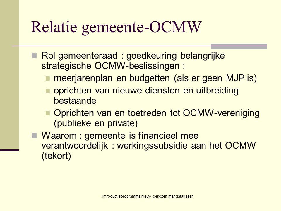 Relatie gemeente-OCMW