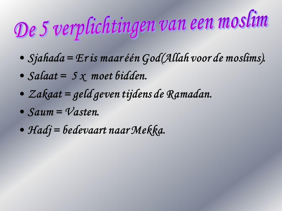 De 5 verplichtingen van een moslim